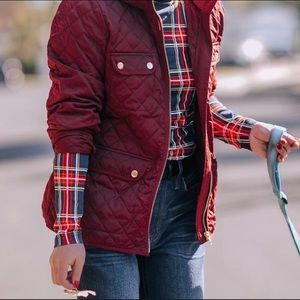 J. Crew Quilted Field Jacket with Primaloft Puffer